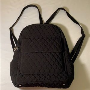 Black quilted Vera Bradley small backpack